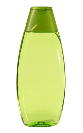 Plastic Bottle with liquid soap on white background