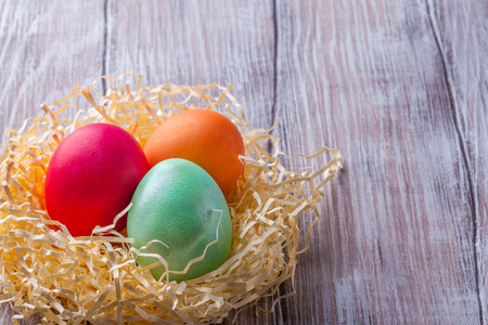 quail: Easter, dyed eggs, willow