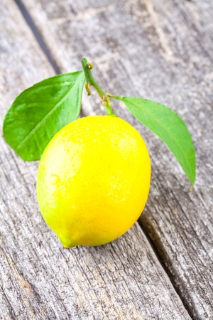 Lemon on a wooden background