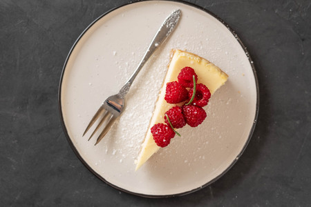 Slice of New York Cheesecake.