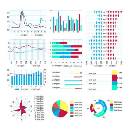 diagram, infographic, statistical charts for scientific papers, infographics