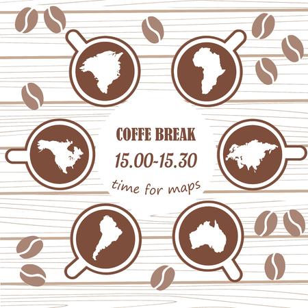 Coffee break. Coffee time. Coffee beans Turkish coffee