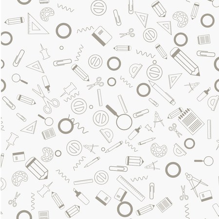 School time streamless vector pattern
