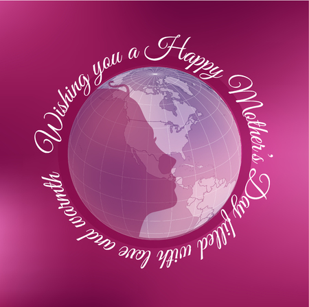 International Womens Day banner with globe. Vector templates for card, poster, flyer and other use