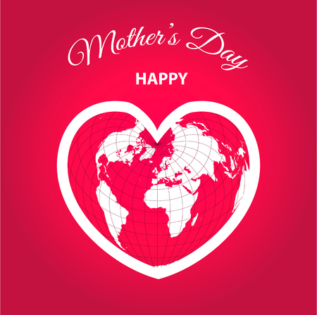 International Womens Day. Vector templates with map for card, poster, flyer and other use