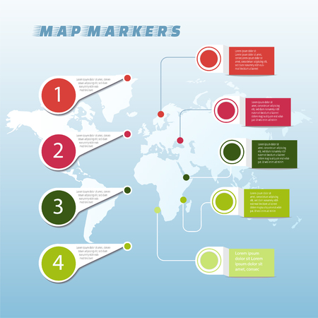 Map pointer icon vector EPS 10, abstract sign flat design