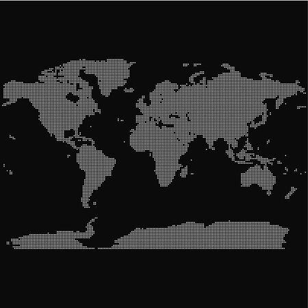 Vector abstract dot world map Ilustração