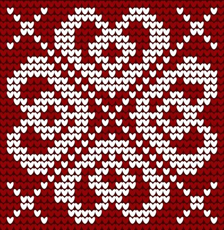 Winter Holiday Seamless Knitted Pattern in Norwegian style
