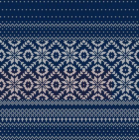Winter Holiday Seamless Knitted Pattern Ilustração