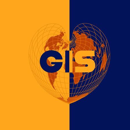 GIS day illustration Ilustração
