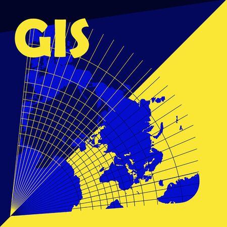 GIS day illustration Illustration