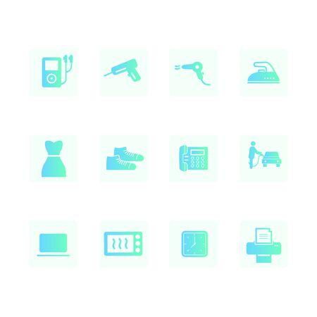 gradient icon illustration Ilustração