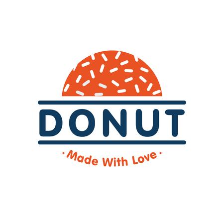 Donut logo. Vector illustration for your restaurant business.