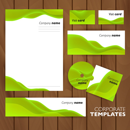 letter head: Corporate identity business set design. Abstract background. Vector illustration. Illustration
