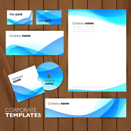 Corporate identity business set design. Abstract background. Vector illustration. Ilustracja