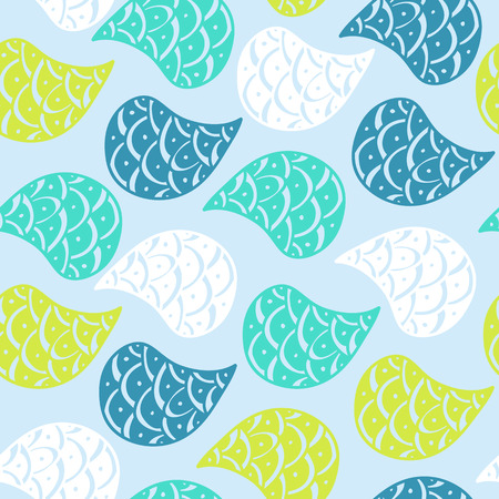 vague: Paisley vector seamless pattern.modern stylish texture. repeating abstract background