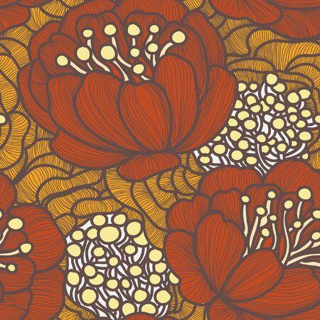 motif floral: Vector seamless floral pattern. Texture sans fin avec des fleurs. Illustration