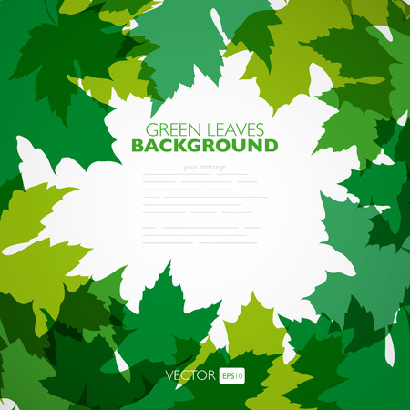 nature pattern: Natural background. Vector background with green leaves. Vector illustration. Illustration
