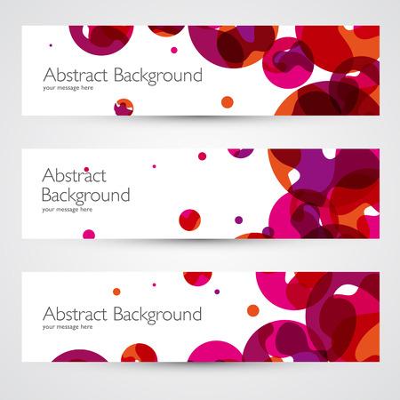 curvas: Coloridas banderas de vectores abstractos fijados. Diseño geométrico