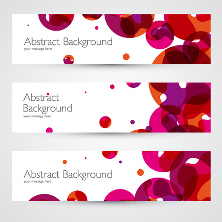 Colorful abstract vector banners set. Geometric design