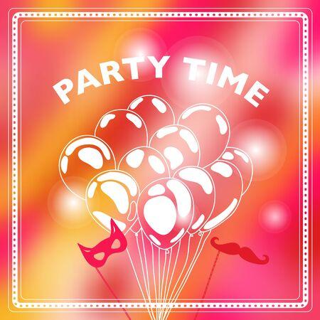 party design: Party invitation. Vector illustration.Modern party celebration design.