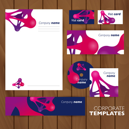 meta: Corporate identity business set design. Abstract background. Vector illustration. Metaball.