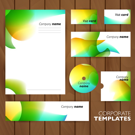 meta: Corporate identity business set design. Abstract background. Vector illustration. Illustration