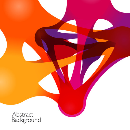 integrate: Abstract background with vector design elements. Metaball Illustration