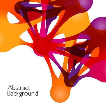 抽象的な背景ベクトル デザイン要素。メタボール