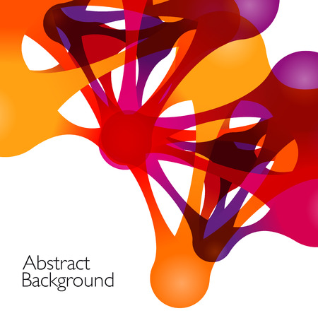 Abstract background with vector design elements. Metaball Illustration