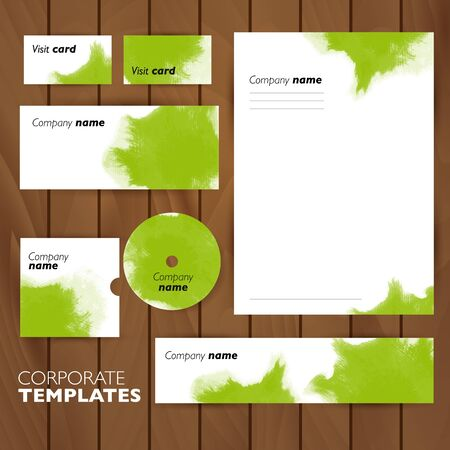 meta: Corporate identity business set design. Abstract background. Vector illustration. Illustration