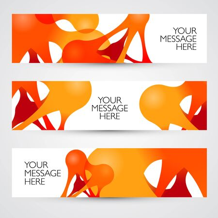 curve creative: Colorful abstract vector banners. Design template. Metaball.
