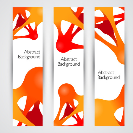 Colorful abstract vector banners. Design template. Metaball.