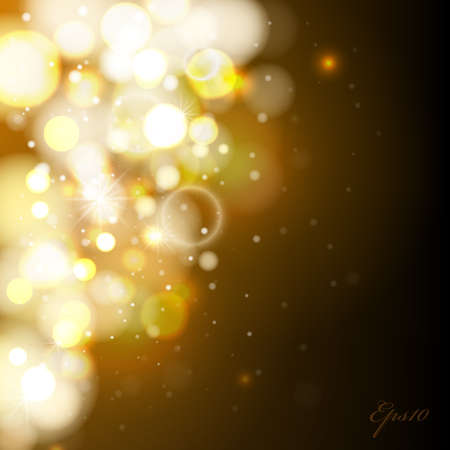 brown background: Vector abstract Bokeh background. Lights. Design template Illustration