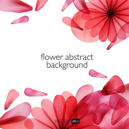 colorful abstract background: Abstract colorful background with flowers. Bright background. Illustration