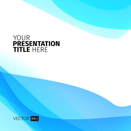 light abstract: Vector abstract background with waves. Presentation template.