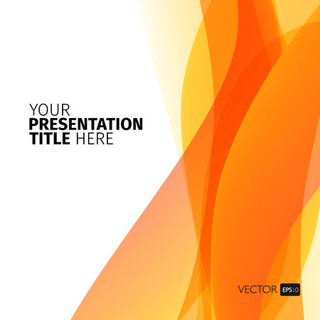 Vector abstract background with waves. Presentation template.