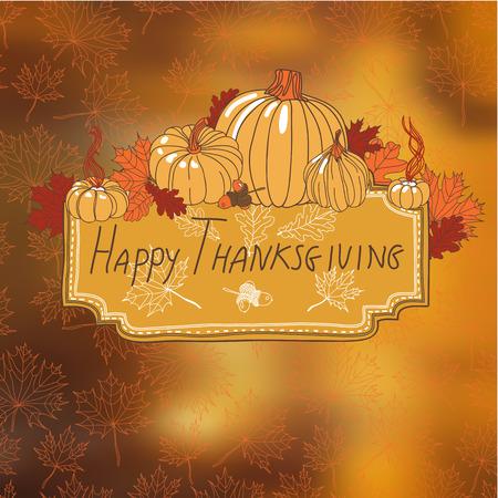 thanksgiving meal: Vector hand drawn Thanksgiving background. Thanksgiving banner. Illustration