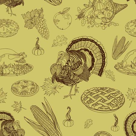 Vector Seamless Thanksgiving. Répétition abstrait. Banque d'images - 43126235