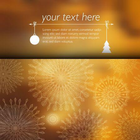 lugar: Tarjeta de Navidad con el lugar para su texto. Vectores