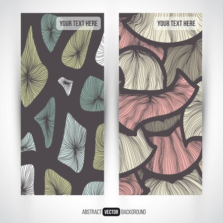 set series: Abstract vector decorative vertical banners set. Series of image. Template frame design for card. Abstract backgrounds. Illustration