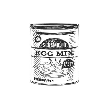 Beautiful vector hand drawn egg mix Ilustrace