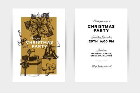 Christmas party invitation card Illustration