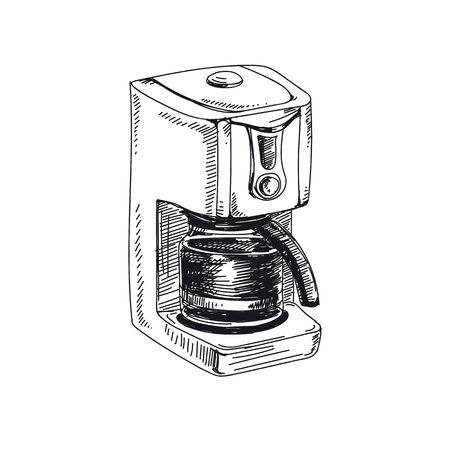 vector hand drawn sketch vintage coffee Illustration Stock fotó - 137872336