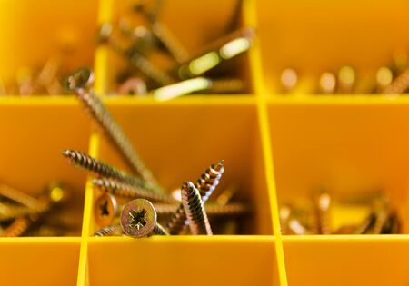 screws in a yellow box.