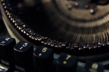 typewriter in retro style close-up Stock Photo