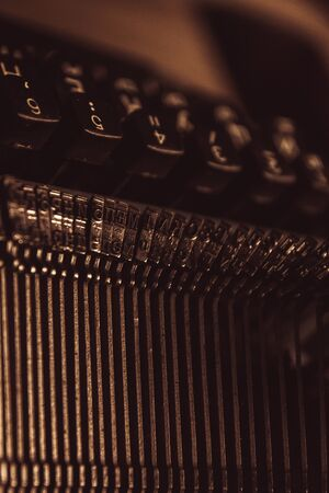 typewriter in retro style. close-up