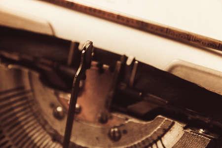 typewriter in retro style. close-up retro style Stock Photo