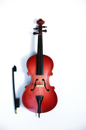classic string instrument cello isolated on white background. Banque d'images