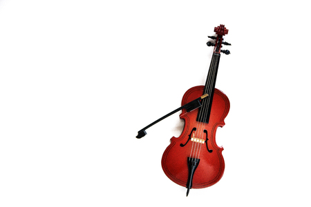 classic string instrument cello isolated on white background. 写真素材 - 126279989